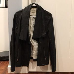 Cartonnier Anthropologie leather motorcycle jacket